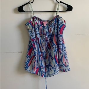 Lilly Pulitzer silk tube top